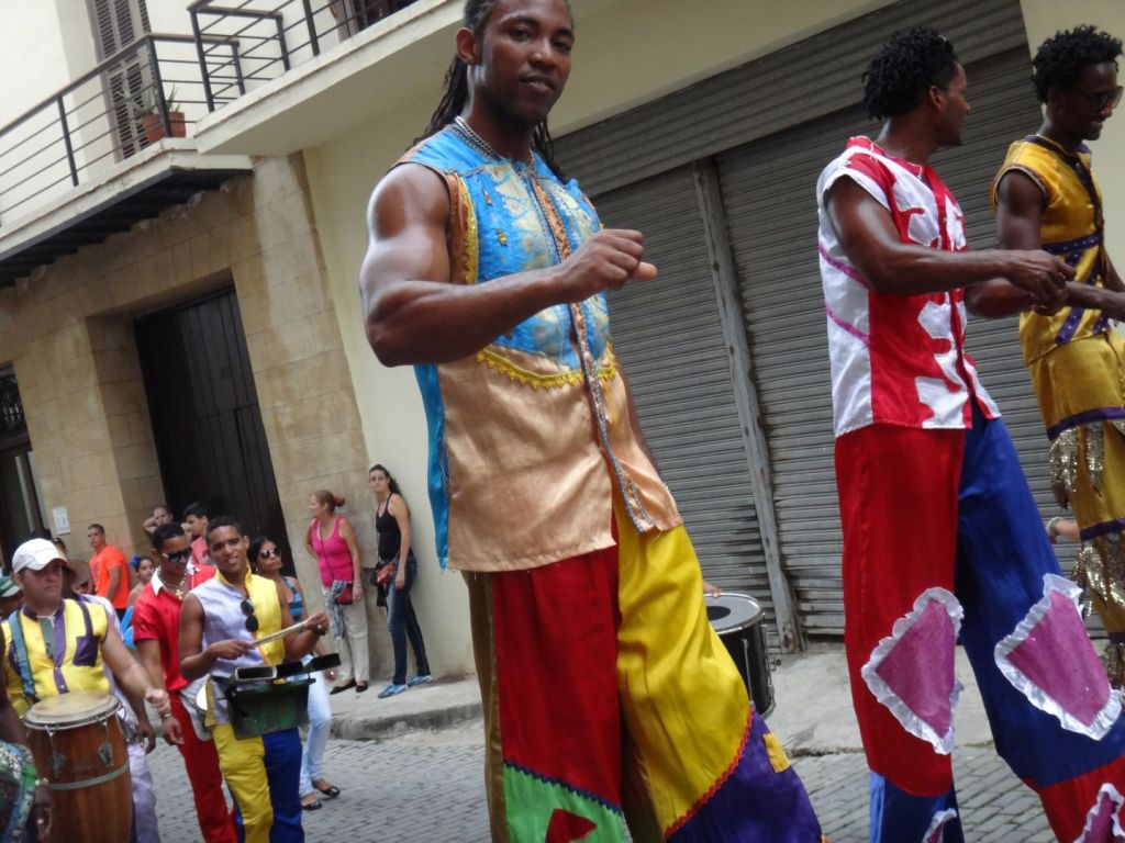 Cuban dancers in the streets of Havana.