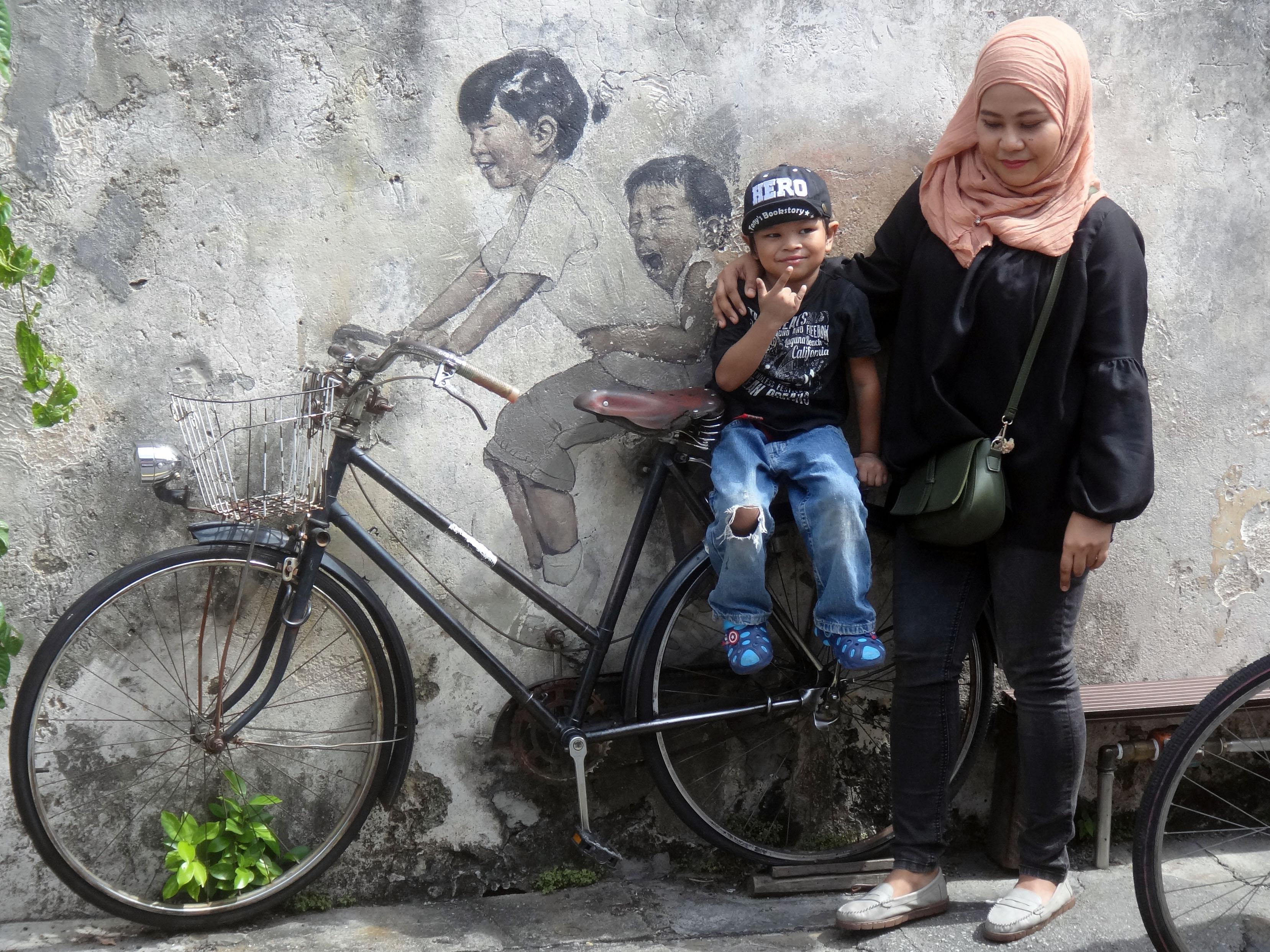 Kids on bicycle
