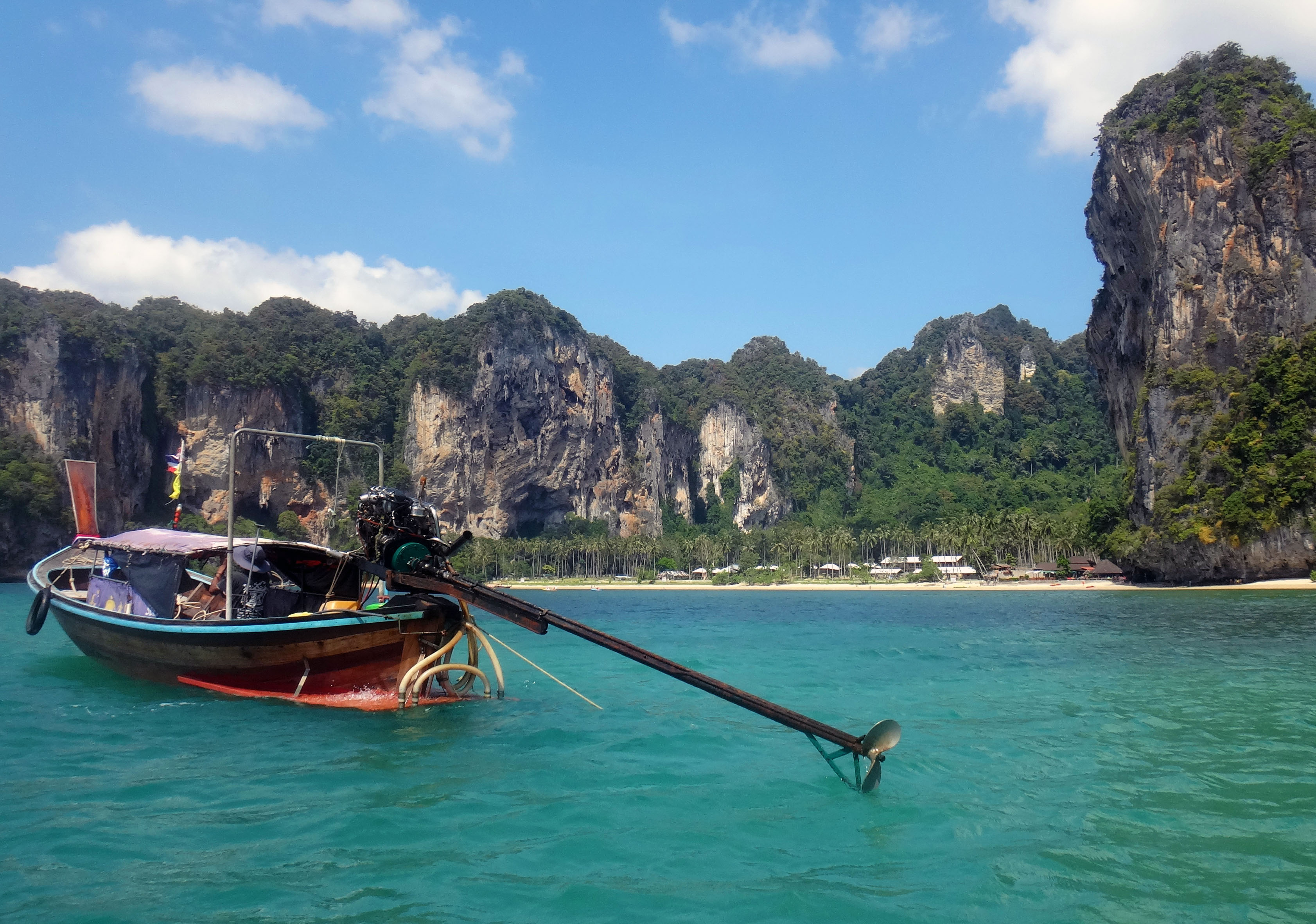 Longtail boat and Tonsai Beach