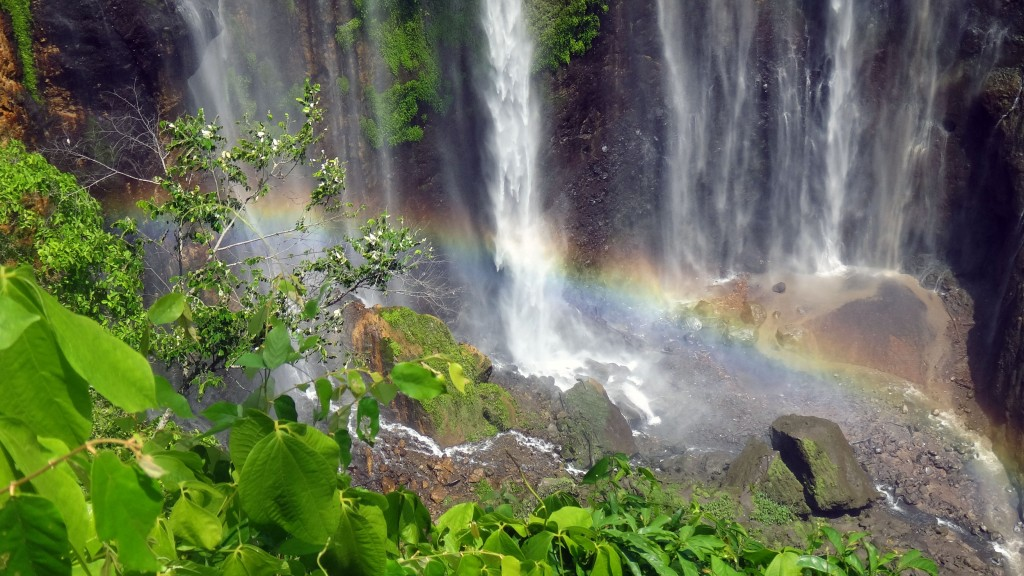 Rainbow at Sewu waterfall