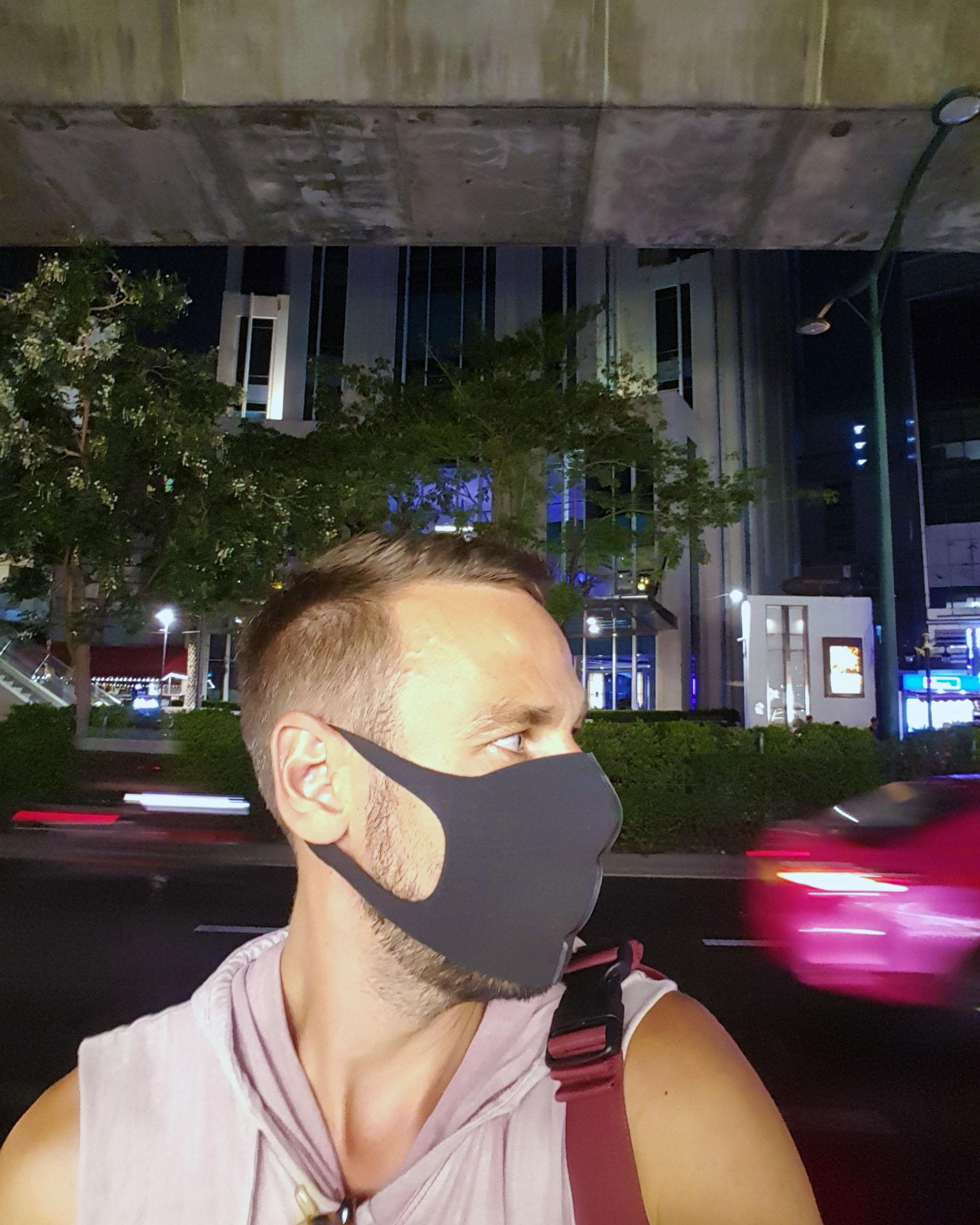 Streetscene with mask