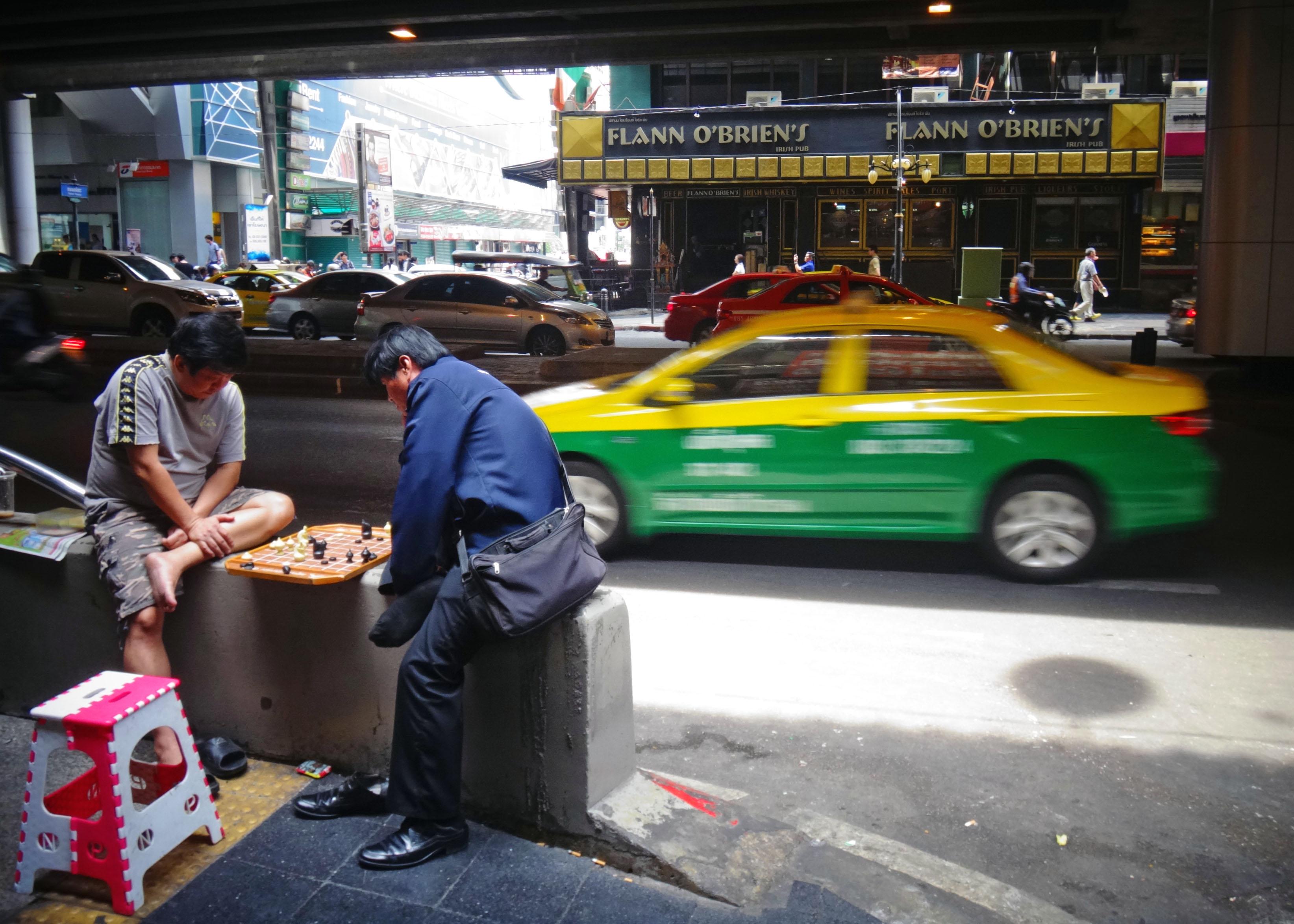 Streetscene at Sala Daeng station, Bangkok