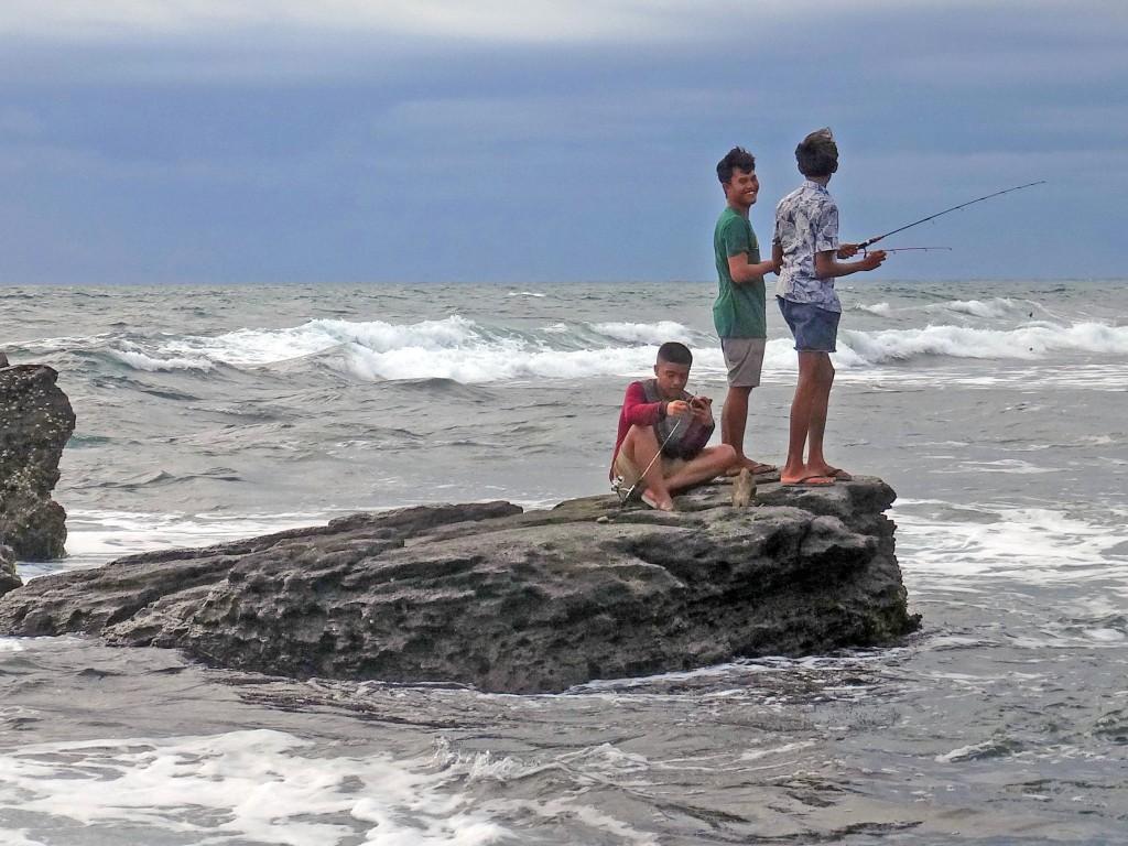 Fishermen enjoying themselve