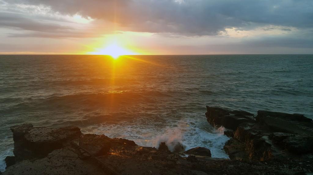 Sunset near Tanah Lot on Bali