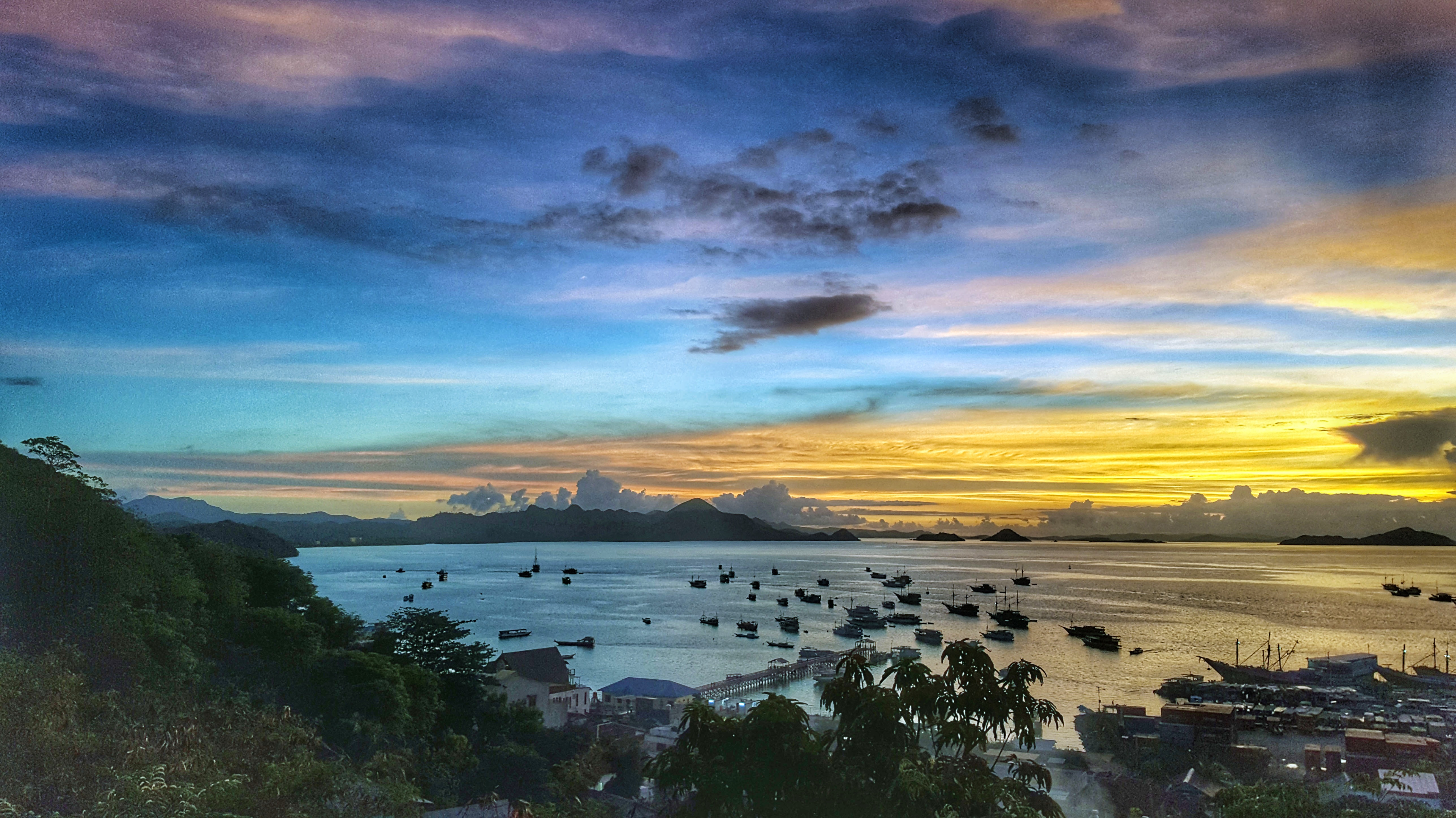 Sunset over Labuan Bajo, Flores, Indonesia