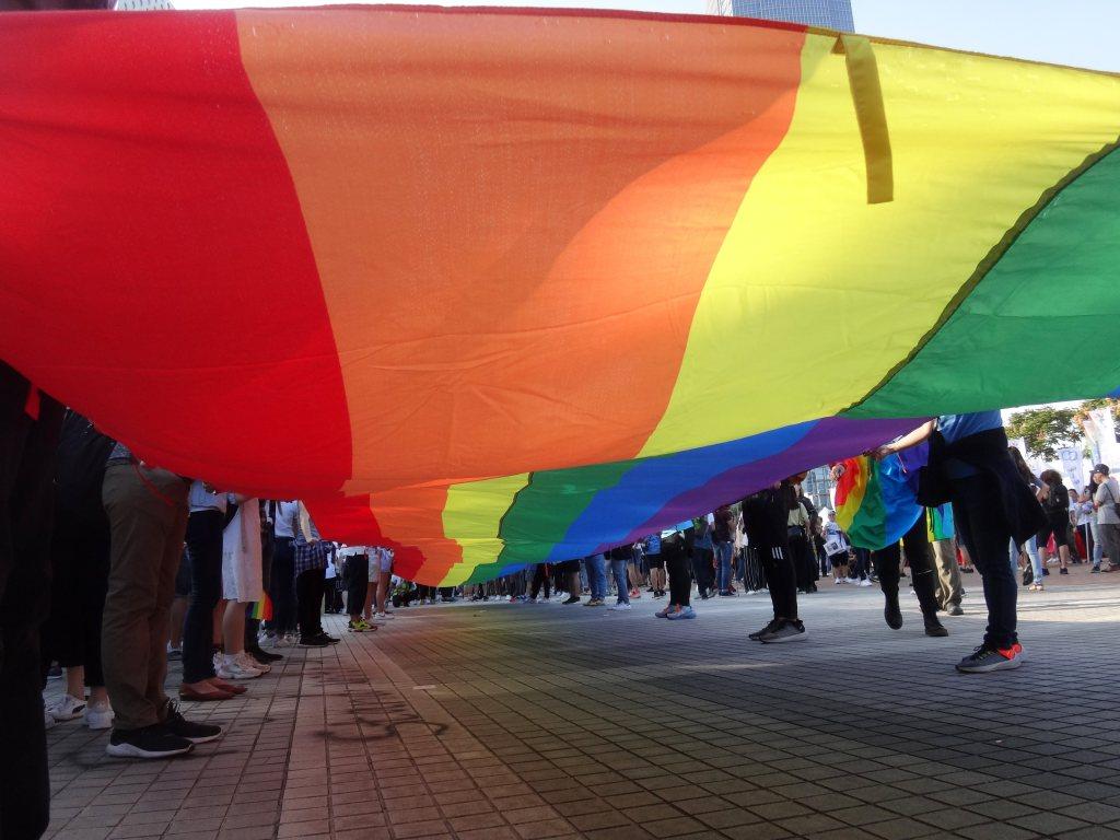 The rainbow-flag at Hongkong Pride