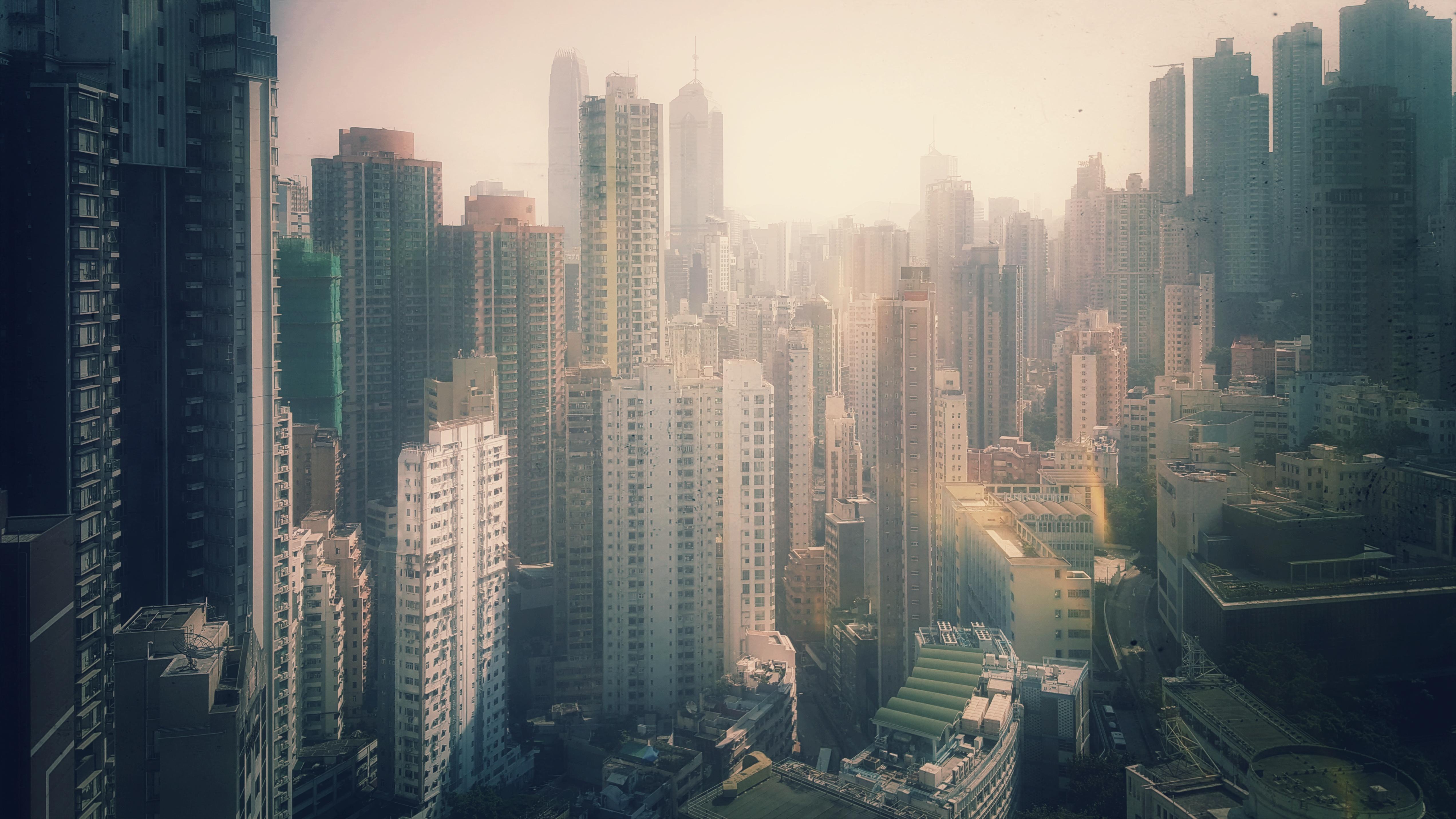Skyscrapers of Hongkong Island