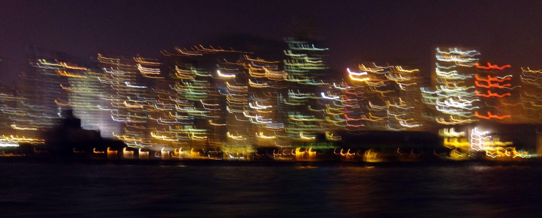 Big city lights Hongkong Island