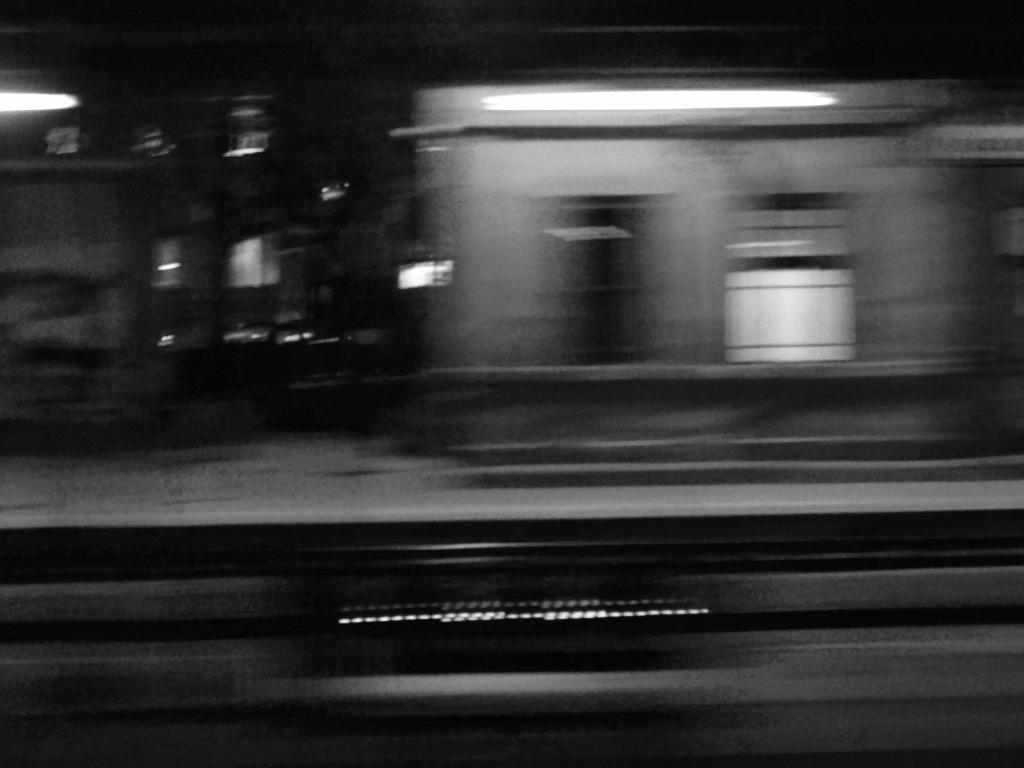 Leaving Zagreb on a rainy night