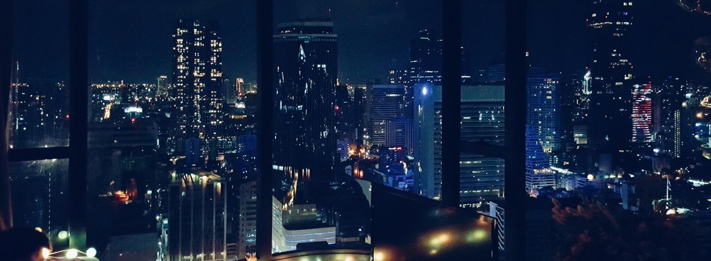 The glittering skyline of Silom, Bangkok