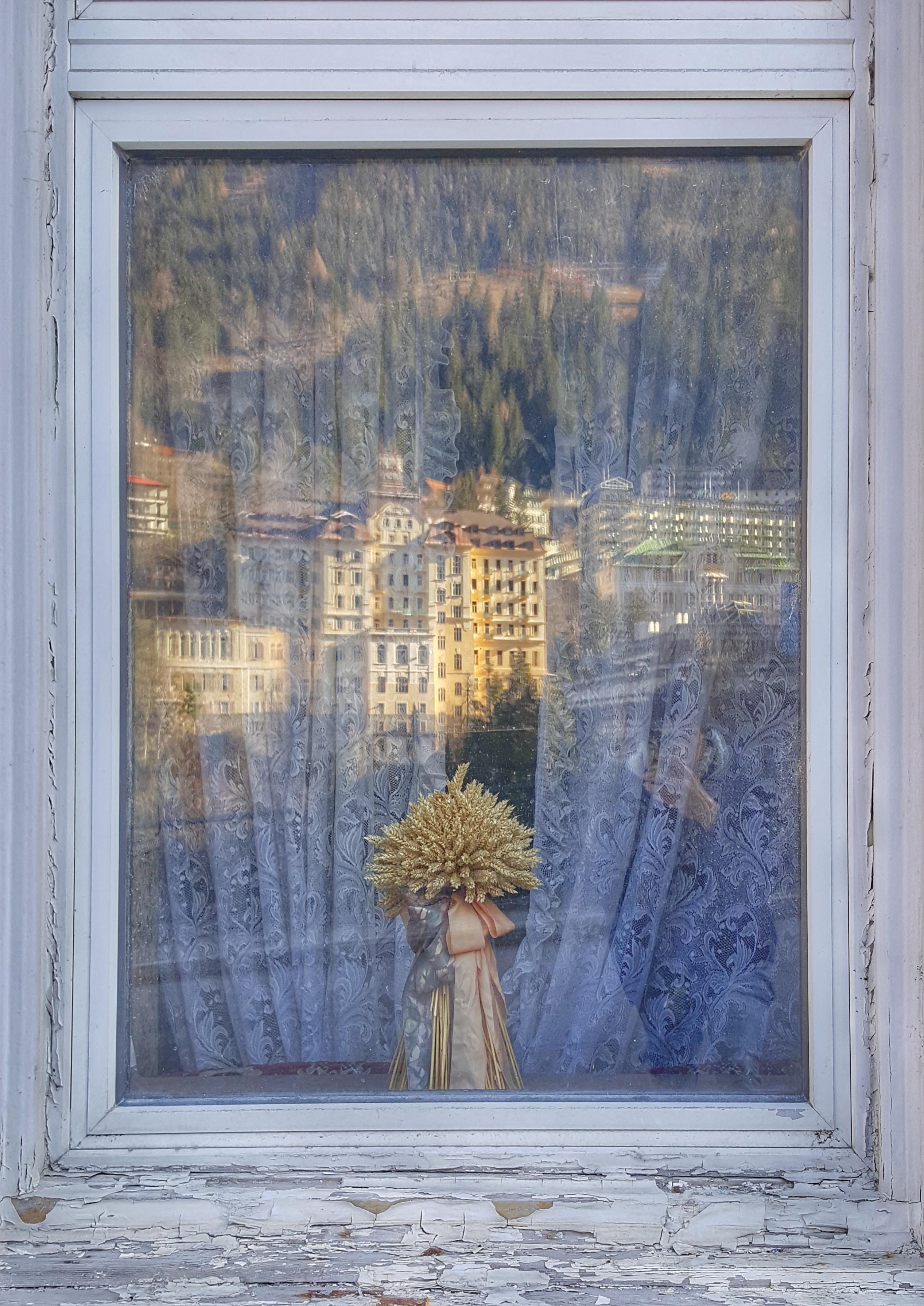 Reflection in a window in Bad Gastein