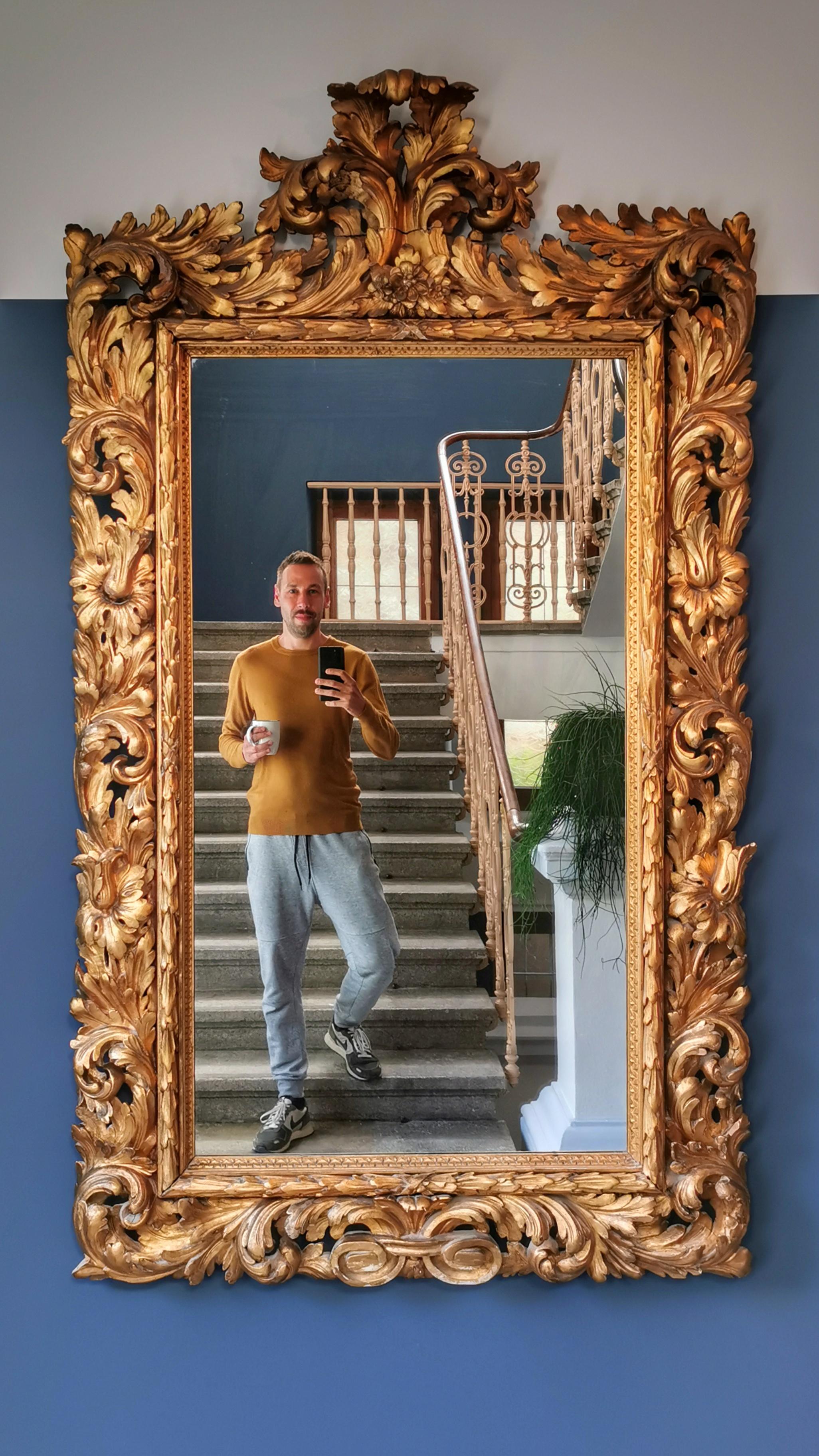 Impressive mirror inside Haus Schider, Bad Gastein