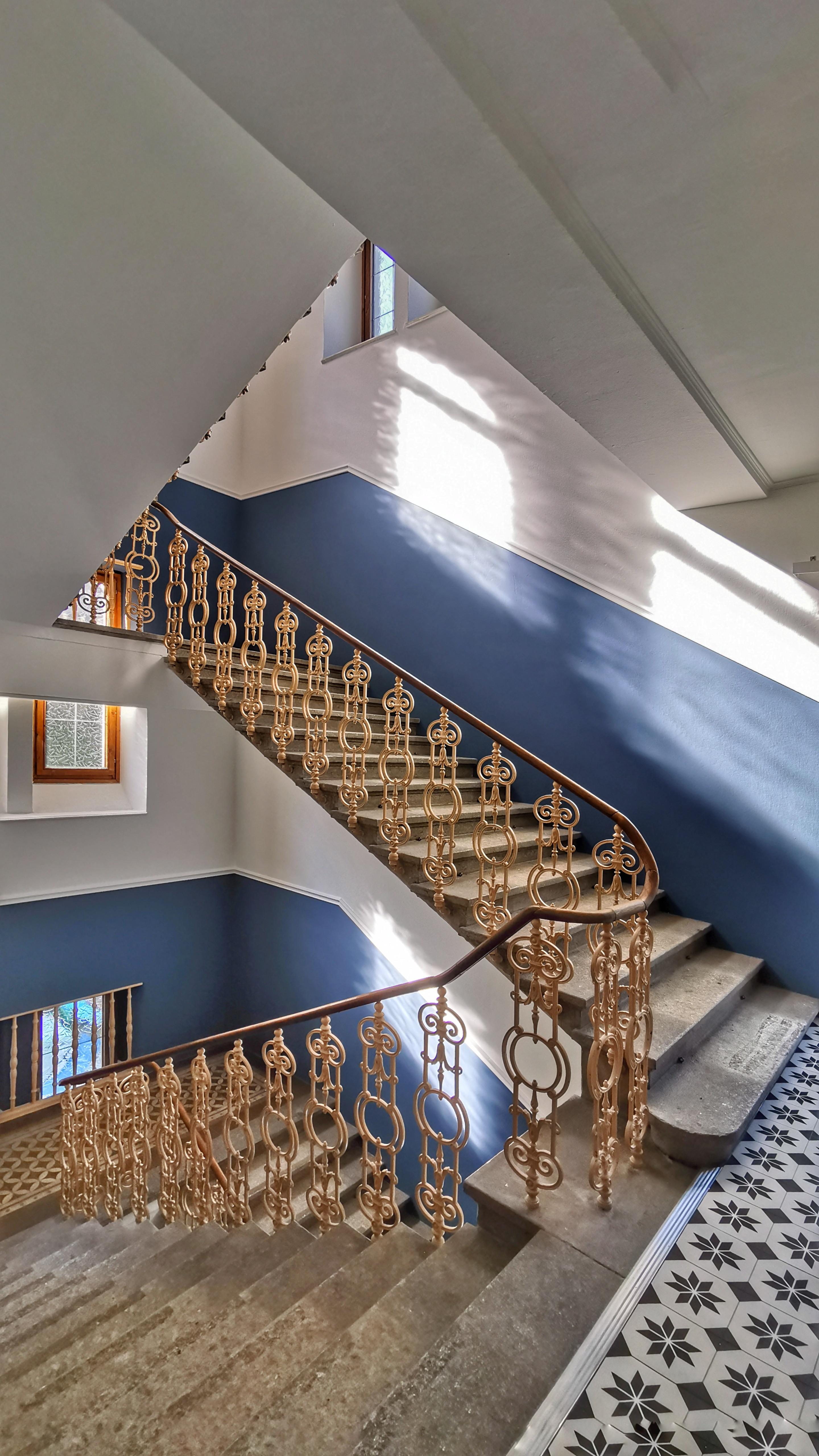 The stairway inside Haus Schider in Bad Gastein