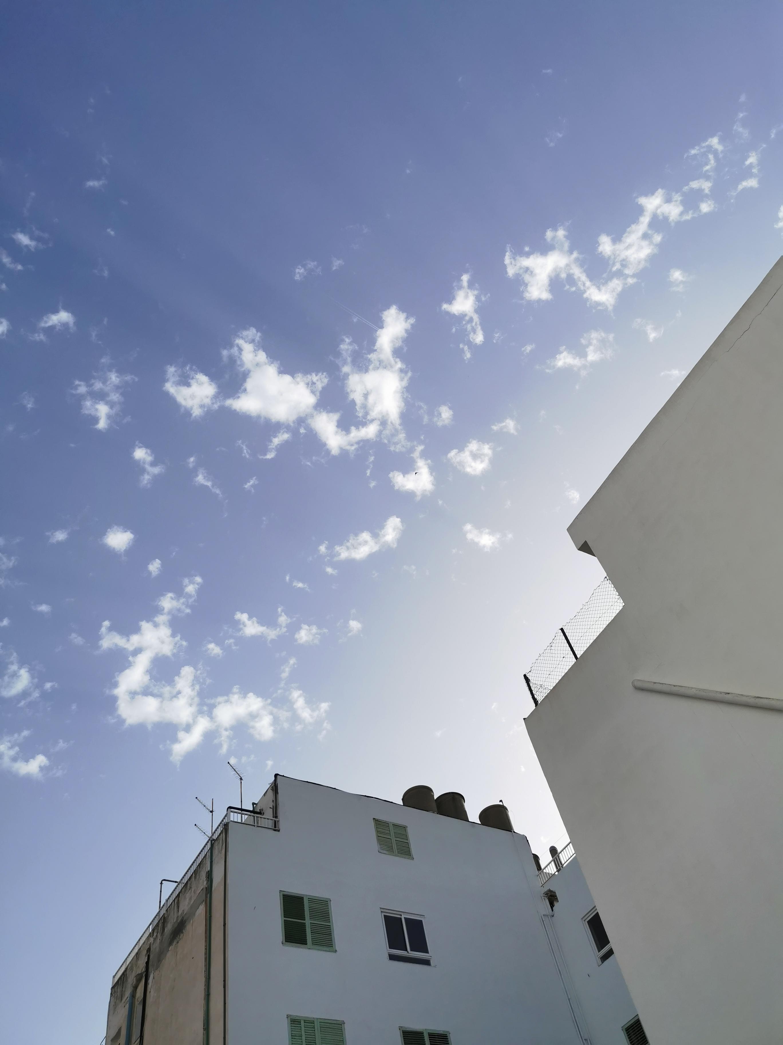 The blue sky of Ibiza